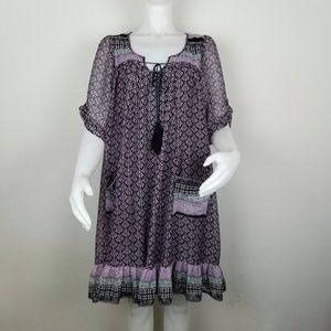World Market L/XL Flowy Boho Dress